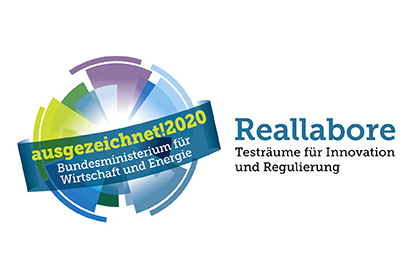 Logo des Innovationspreises Reallabore