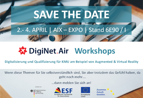 DigiNet.Air Workshops auf der Aircraft Interiors Expo