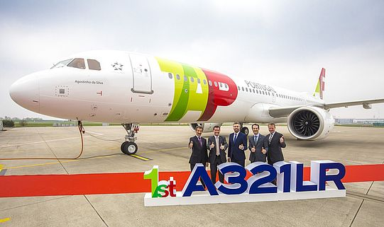 The delivery of TAP Air Portugal's first A321LR