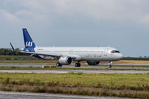 A321LR der Scandinavian Airline Services
