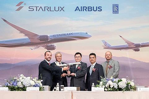 STARLUX Airlines signed a firm order for 17 Airbus A350 XWB aircraft