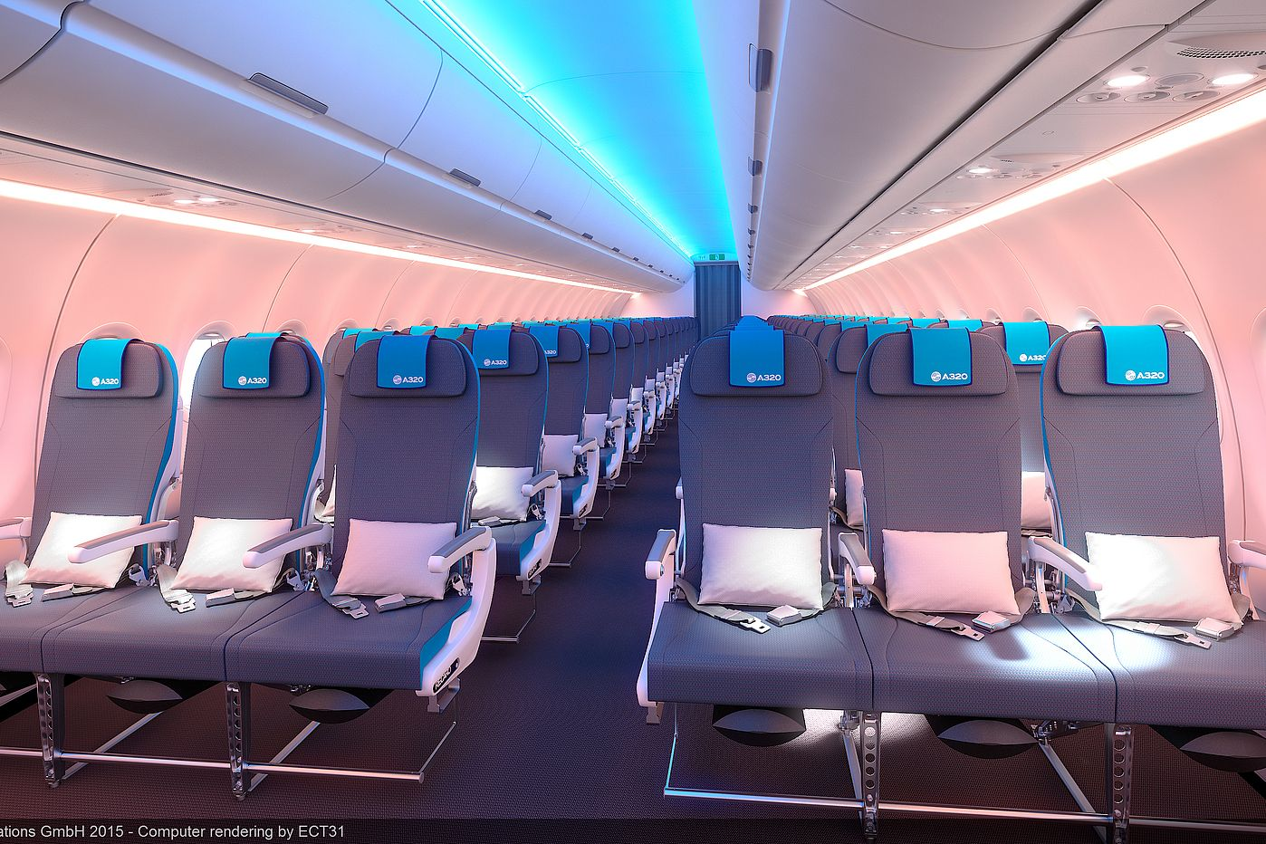 Airbus A320 Economy Class - © Airbus