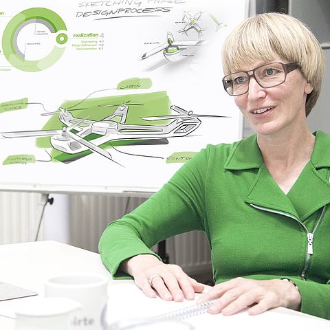 Birte Juergensen, industrial designer, engineer and Managing Director of zweigrad