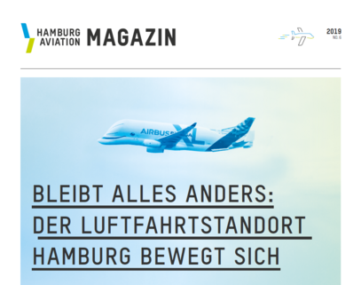 Die Titelseite des Hamburg Aviation Magazins Nummer 6